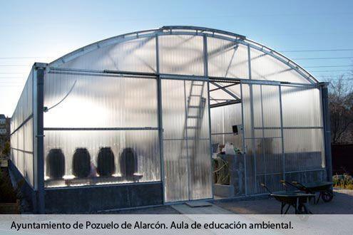 Invernadero Fiberlux en el Aula de Educación Ambiental del Ayuntamiento de Pozuelo de Alarcón