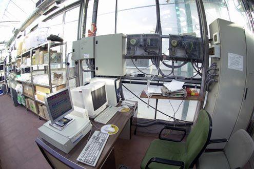 Compartimento de control en invernadero Reylux