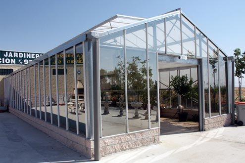 Invernadero de cristal R6 para centro de jarnidería