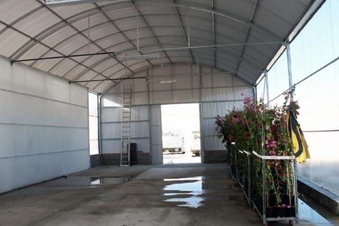 Invernadero Fiberlux como almacén