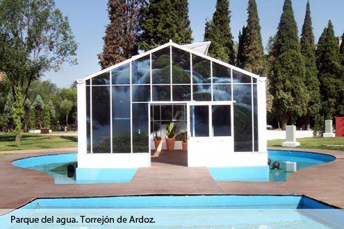 Invernadero de gama alta Reylux R6 situado en el Parque del Agua de Torrejón de Ardoz (Madrid)
