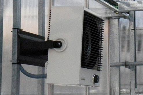 Aerotermo en invernadero