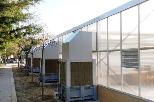 Enfriadores evaporativos. Cooling System por sobrepresión