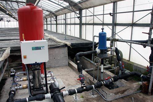Instalación centralizada de Riego en invernadero multitúnel Agrolux