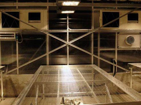 Mesas de cultivo DR Galva en cabina Independiente en invernadero Reylux