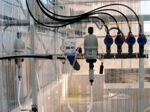 Sistema de Riego y fertirrigación en invernadero. Sistemas D.R.