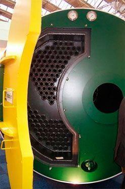Caldera para instalaciones de tuberías de agua caliente de alto rendimiento en invernaderos.