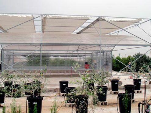 Pantalla térmica-sobreamiento exterior para proyección de sombra y ahorro de energía. Sistemas D,R,