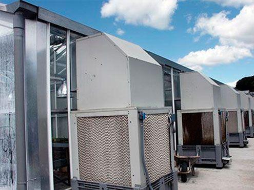 Unidades autónomas de enfriadores evaporativos. Cooling system funcionamiento por depresión Sistemas D.R.
