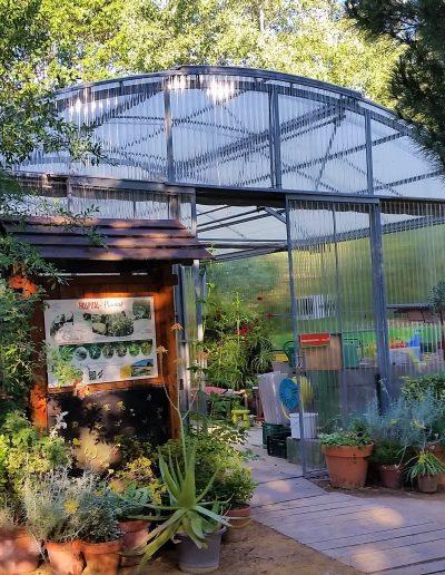 Invernadero Fiberlux F8 en Aula de Educación Ambiental del Ayuntamiento de Pozuelo de Alarcón.